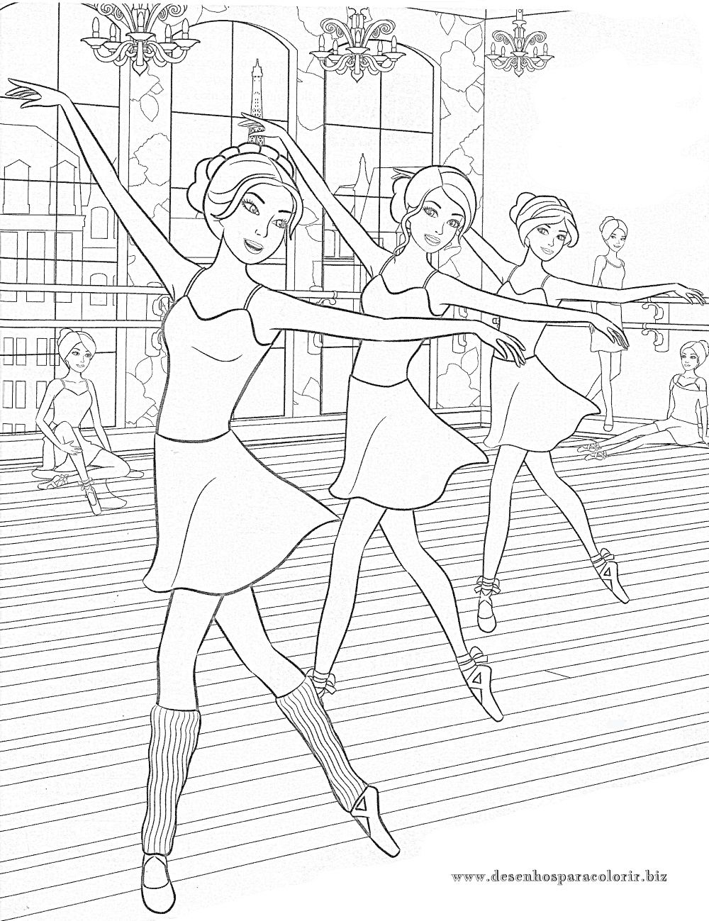 Pin By Kassandra On Coloring Dance Coloring Pages Coloring Pages Barbie Coloring Pages