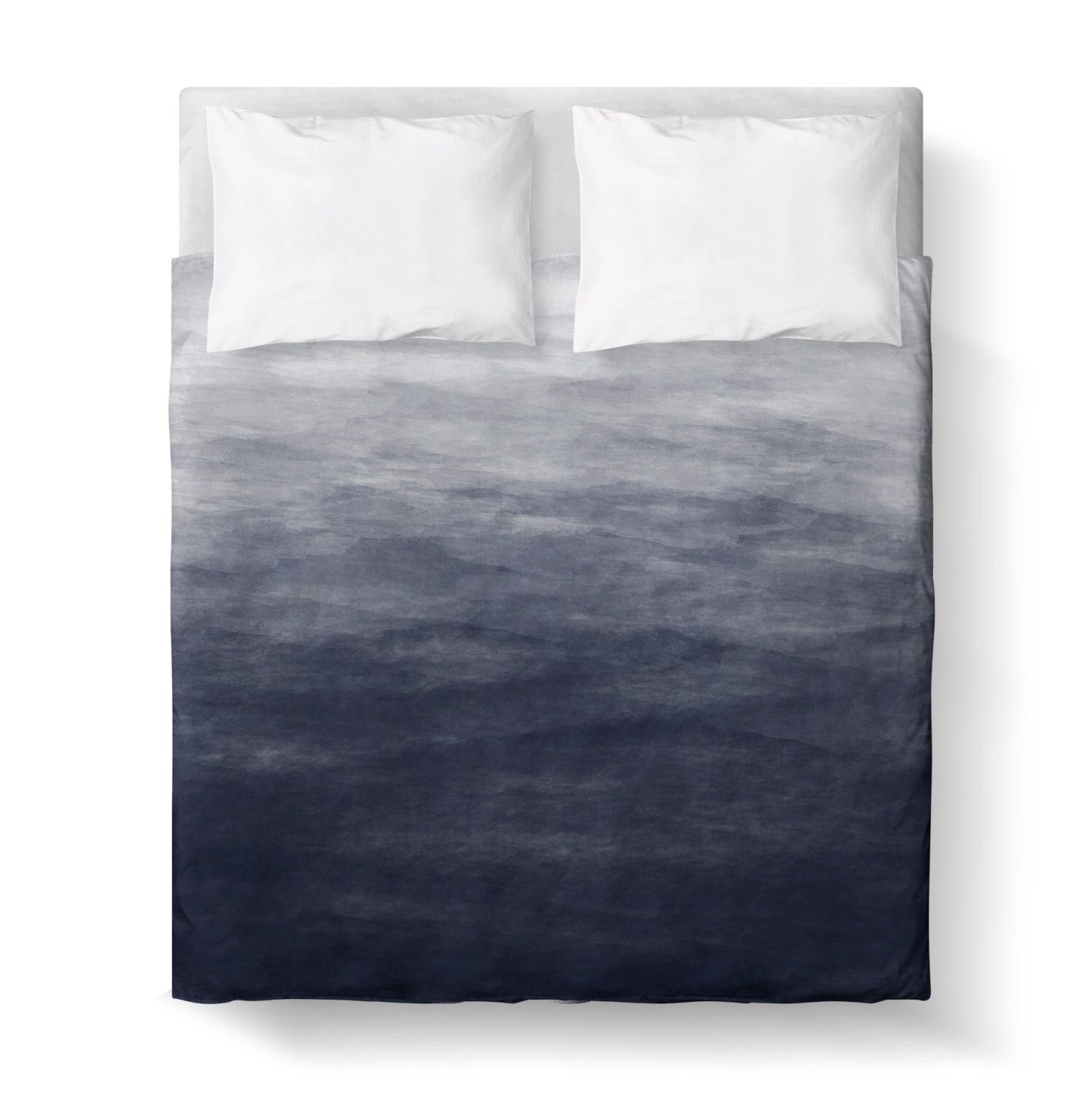 Navy Blue Grey Watercolor Ombre Duvet Cover Comforter Cover 3 Sizes Available King Queen Twin Bedding Blue G Purple Duvet Cover Ombre Duvet Duvet Covers