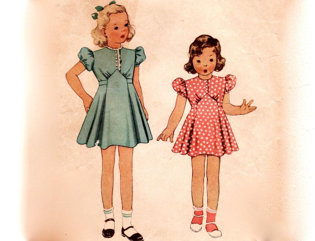 vintage 1930s children s sewing pattern s