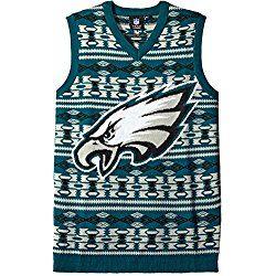 Klew Nfl Philadelphia Eagles Ugly Sweater Vest X Large Green Nfl