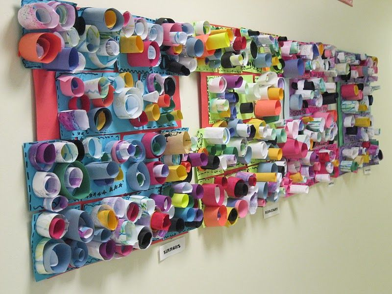 Color collage and much more cylinders are up for 3d art projects