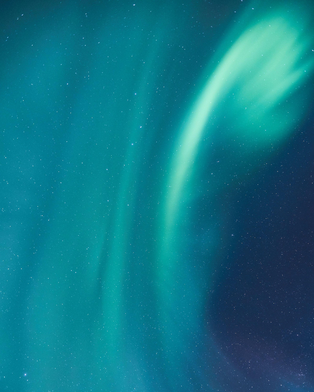 Sky night stars northern light blue starry
