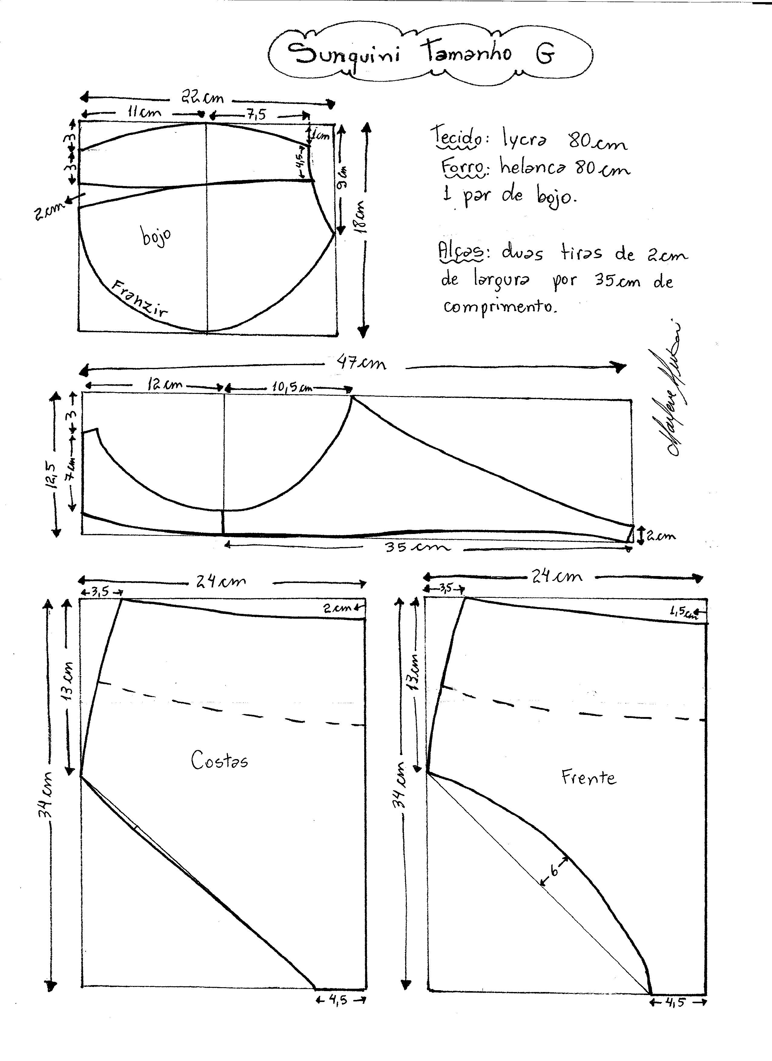 Mi talle | Trajes de baño | Pinterest | Molde, Costura y Patrones