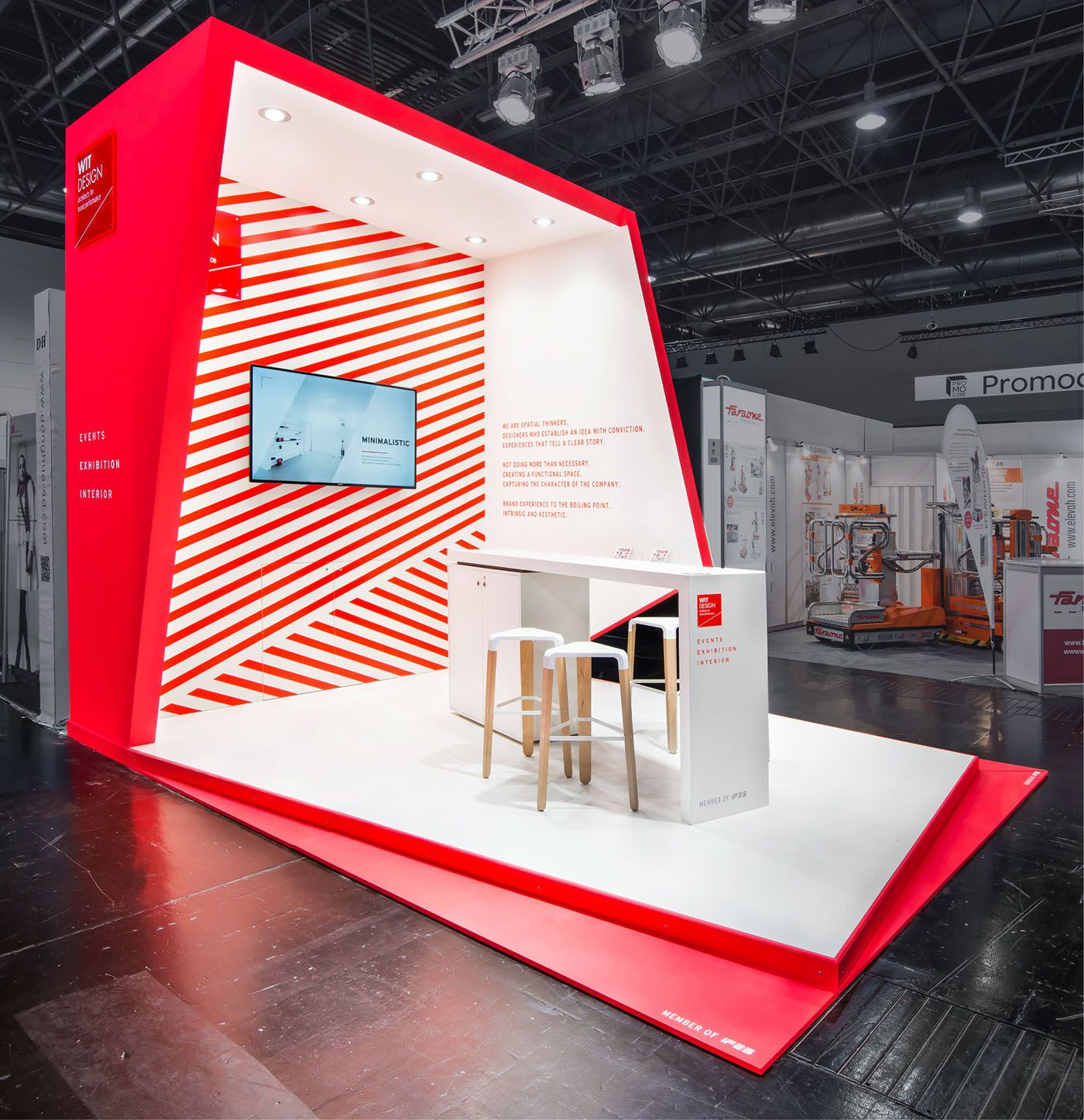 Expo Stands Trade Fair 2017 : Wit design euroshop exhibition pinterest