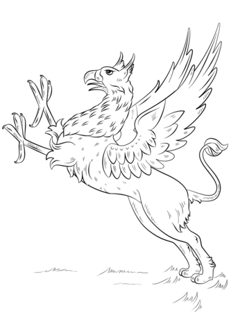 Griffin Coloring page from Greek Mythology category