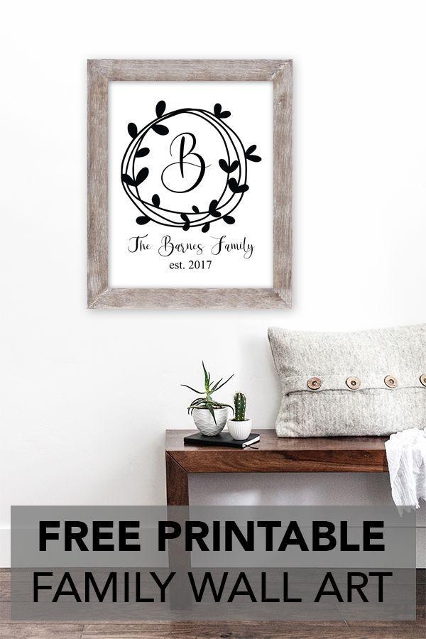Family Established Printable Wall Art Home Decor Art Signs