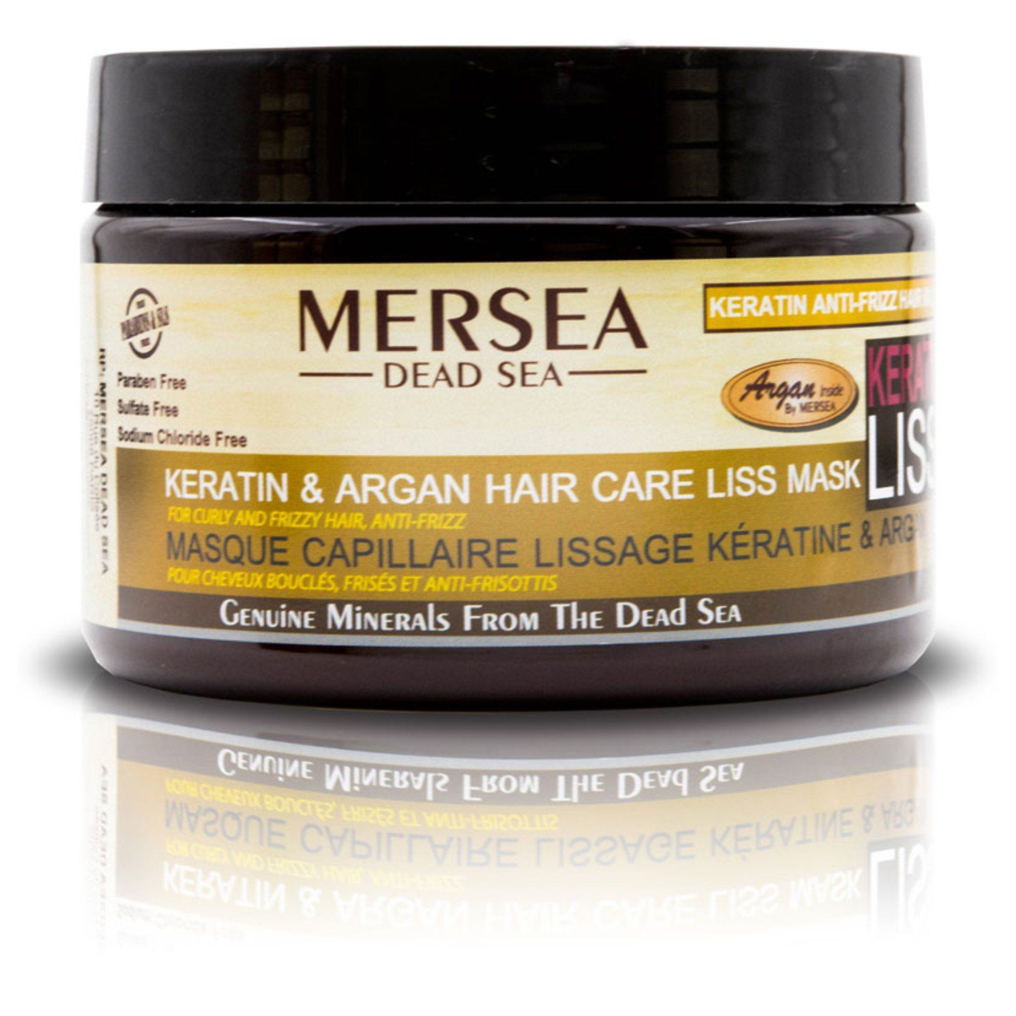 Keratin Argan and Dead Sea Minerals Hair Liss Mask for
