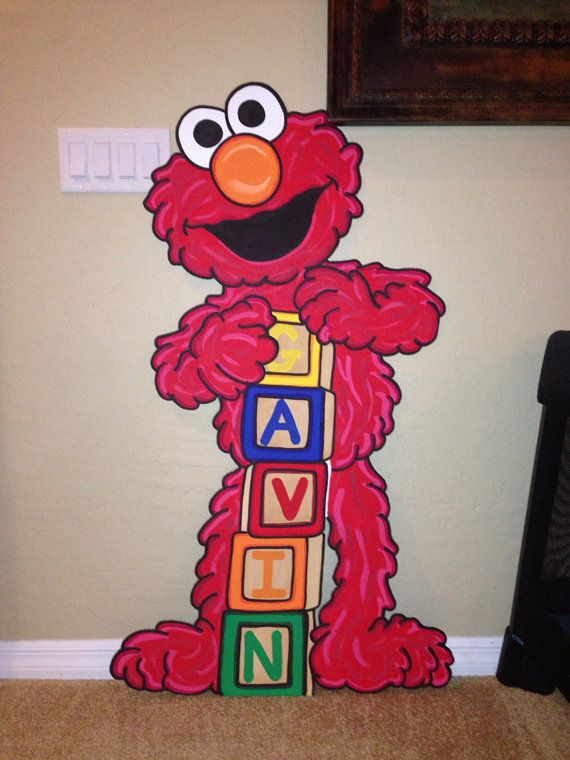 One Sesame Street Character Party Prop Elmo Diy Elmo