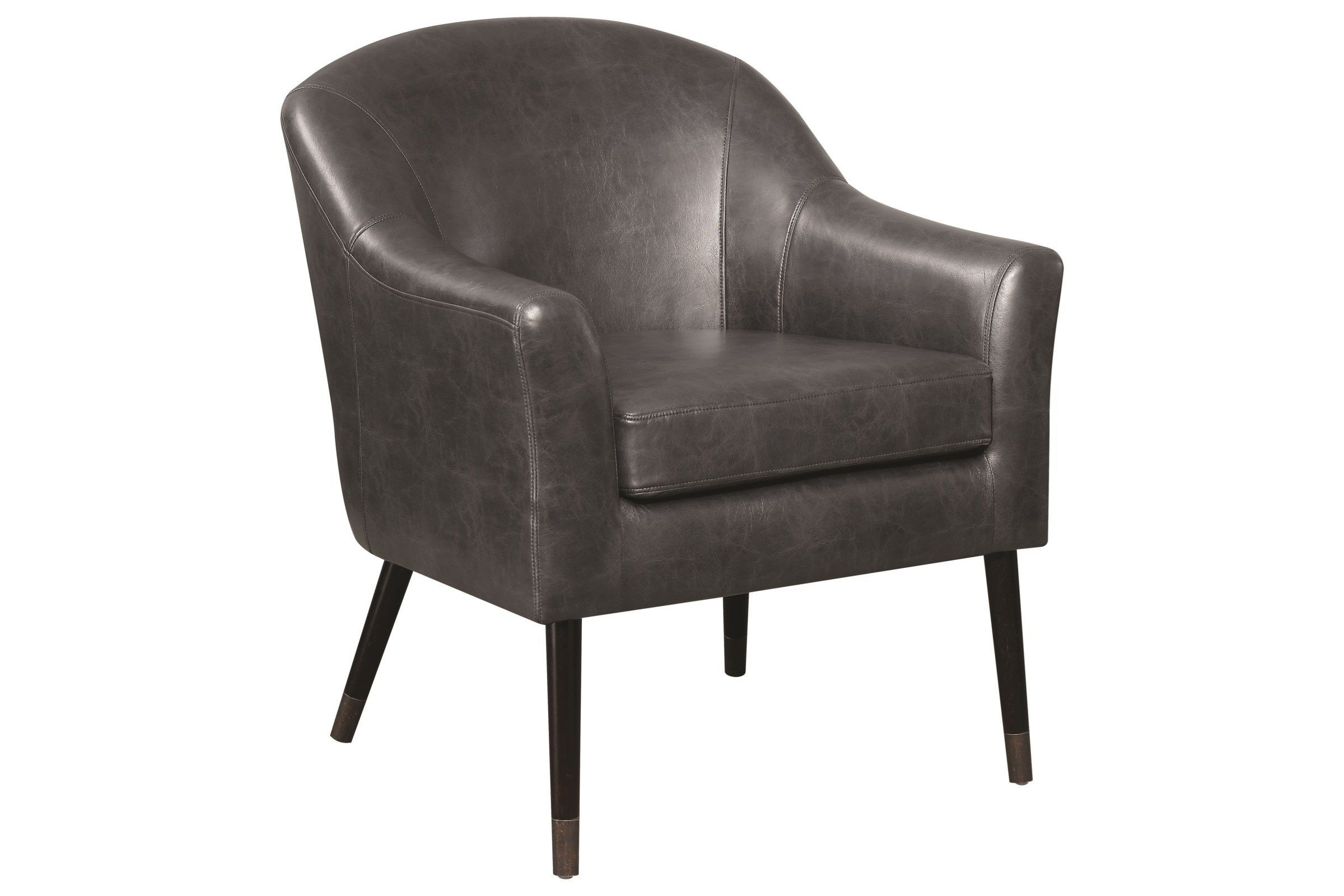 Scott Living Mid Century Modern Black Accent Chair Barrel Chair
