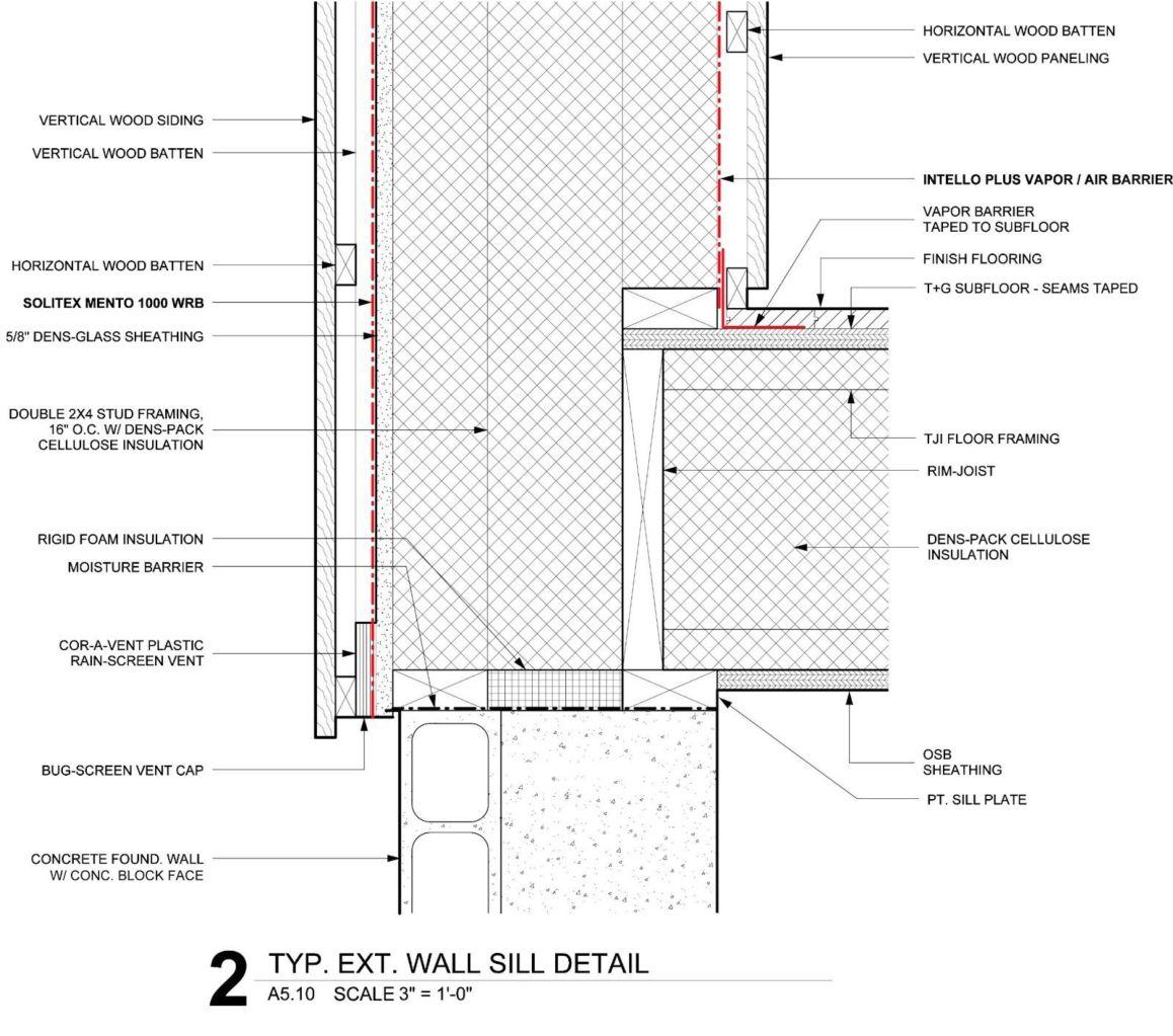 The Klingenberg Wall Passive House Design Floor Framing Vertical Wood Siding