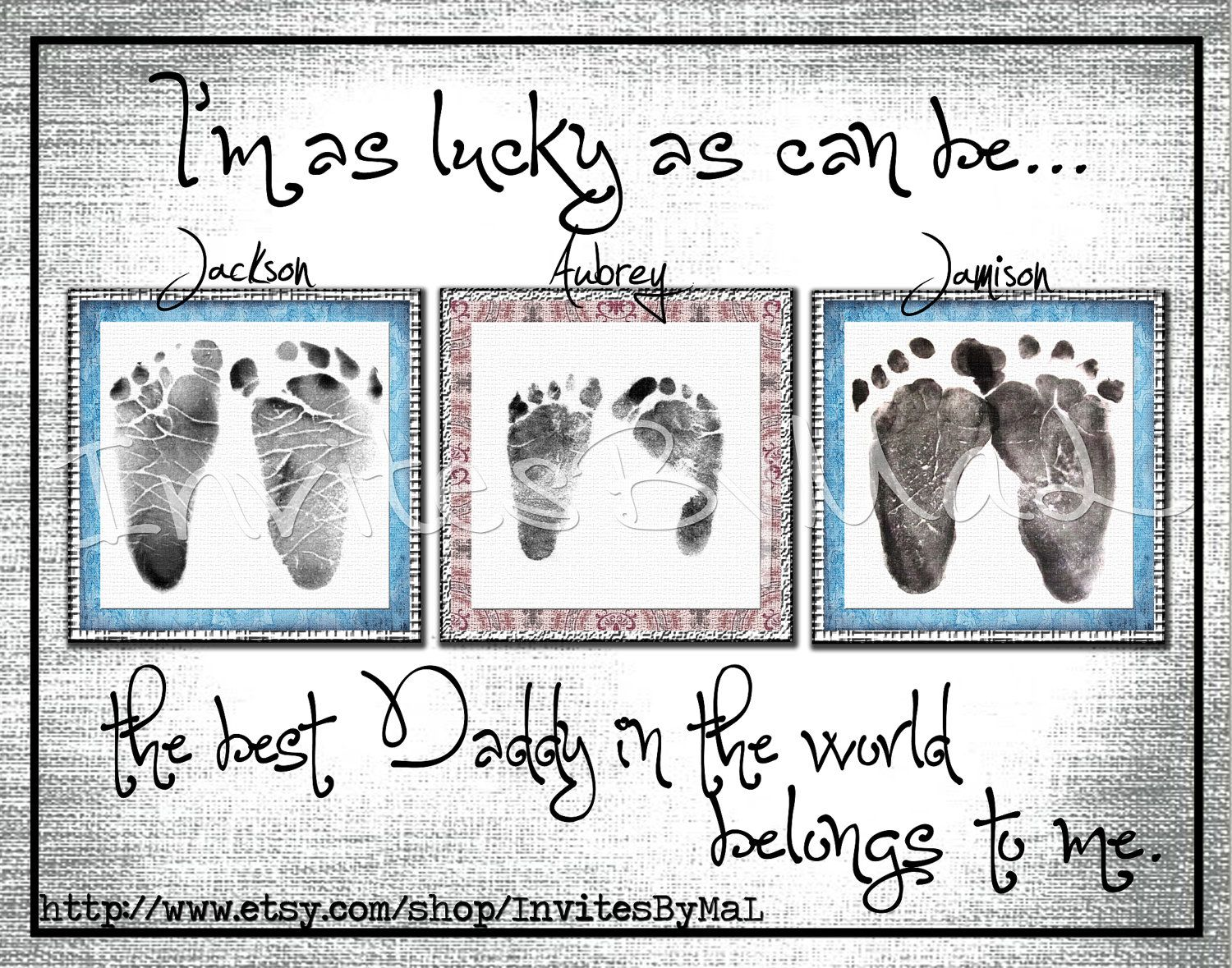 Personalized baby footprint or handprint keepsake gift perfect for