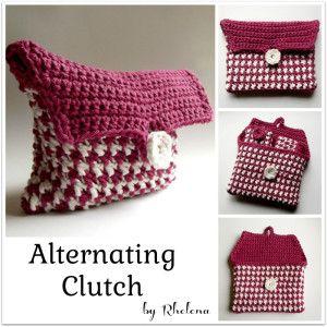 Alternating Clutch ~ Rhelena - CrochetN'Crafts