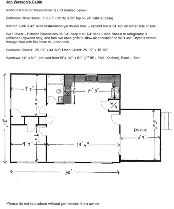 Love This Simple Floor Plan I Would Extend The Deck The Full Width Of The Cabin And Then Extend The Roof Over Most Of Th Floor Plans Cabin Simple Floor Plans