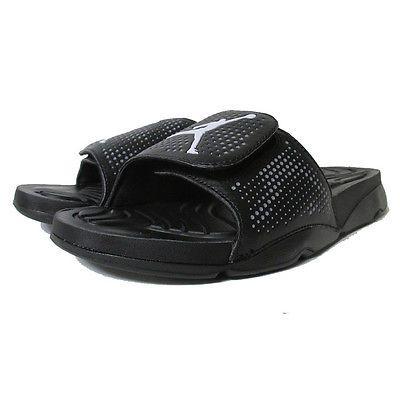 ec906ab234427a Nike Jordan Hydro 5 Mens 820257-010 Black Grey White Slide Sandals Size 11