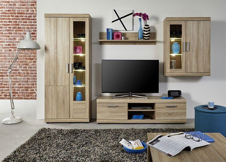 ensemble meuble TV couleur chpene clair style contemporain