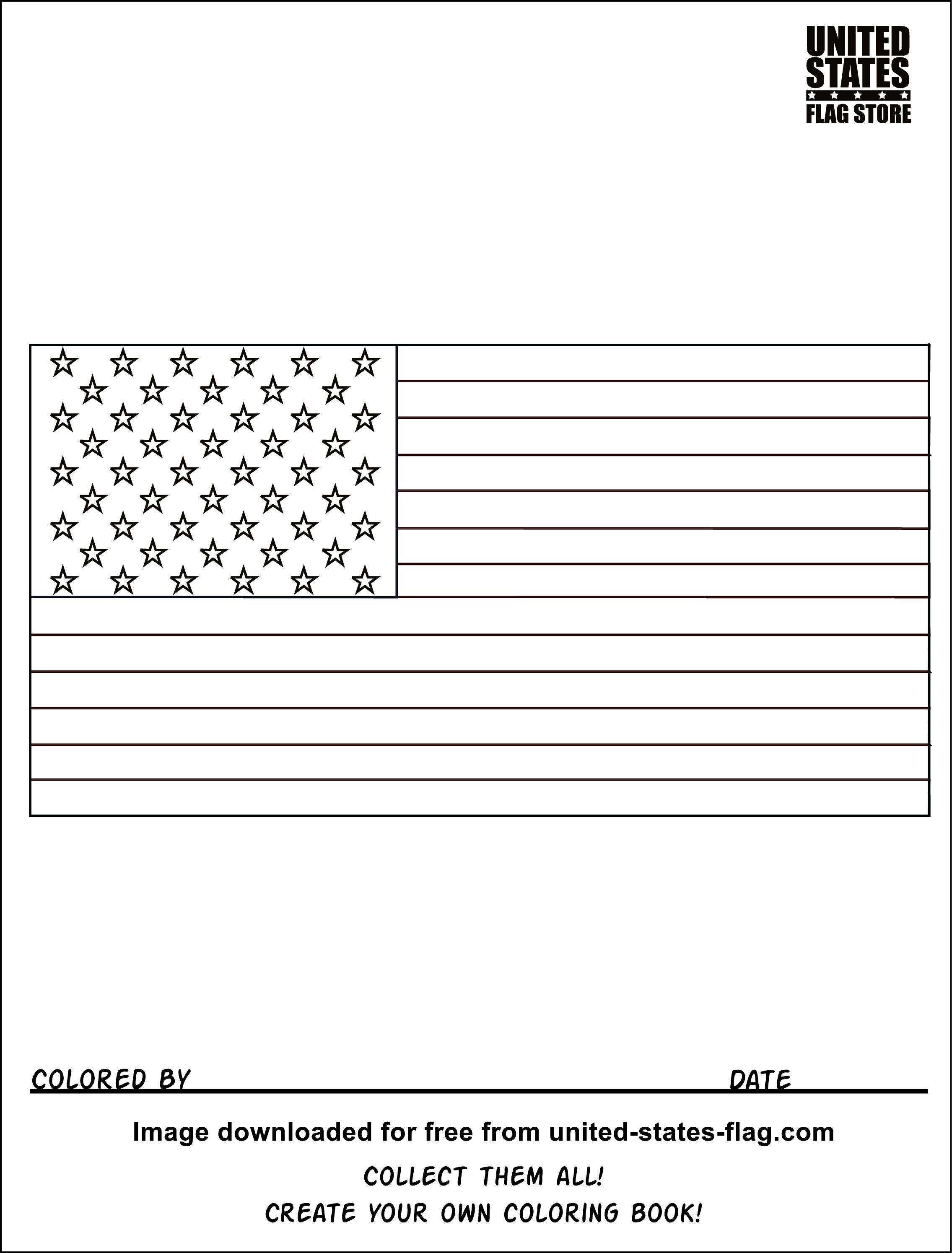 Coloring Book American Flag Usa 1