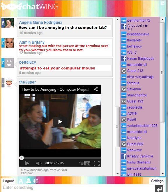 Live chat room for website