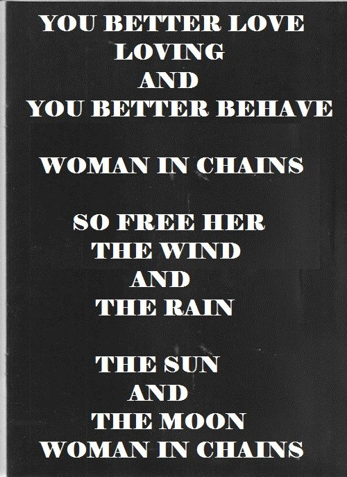 This Song Tears For Fears Woman In Chains