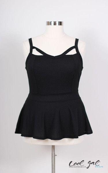 Black V-Neck Tank Plus Size Dress