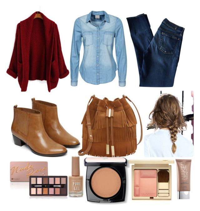 """"""""""" by pandicornio033 on Polyvore featuring moda, 7 For All Mankind, Vero Moda, Warehouse, Vince Camuto, Lancôme, Clarins y Urban Decay"""
