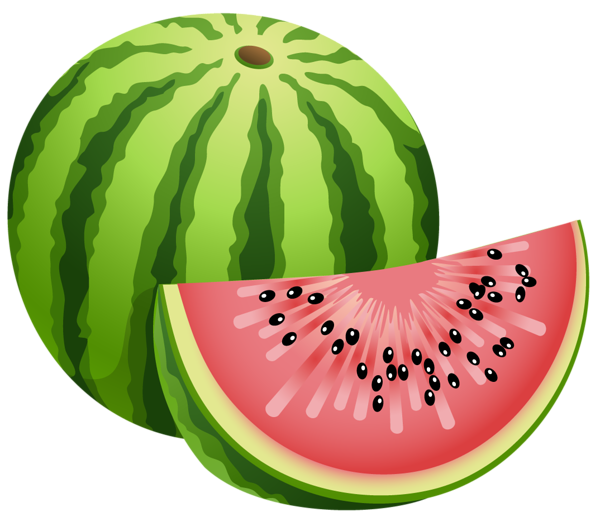 Large Painted Watermelon Png Clipart Fruit Pinterest