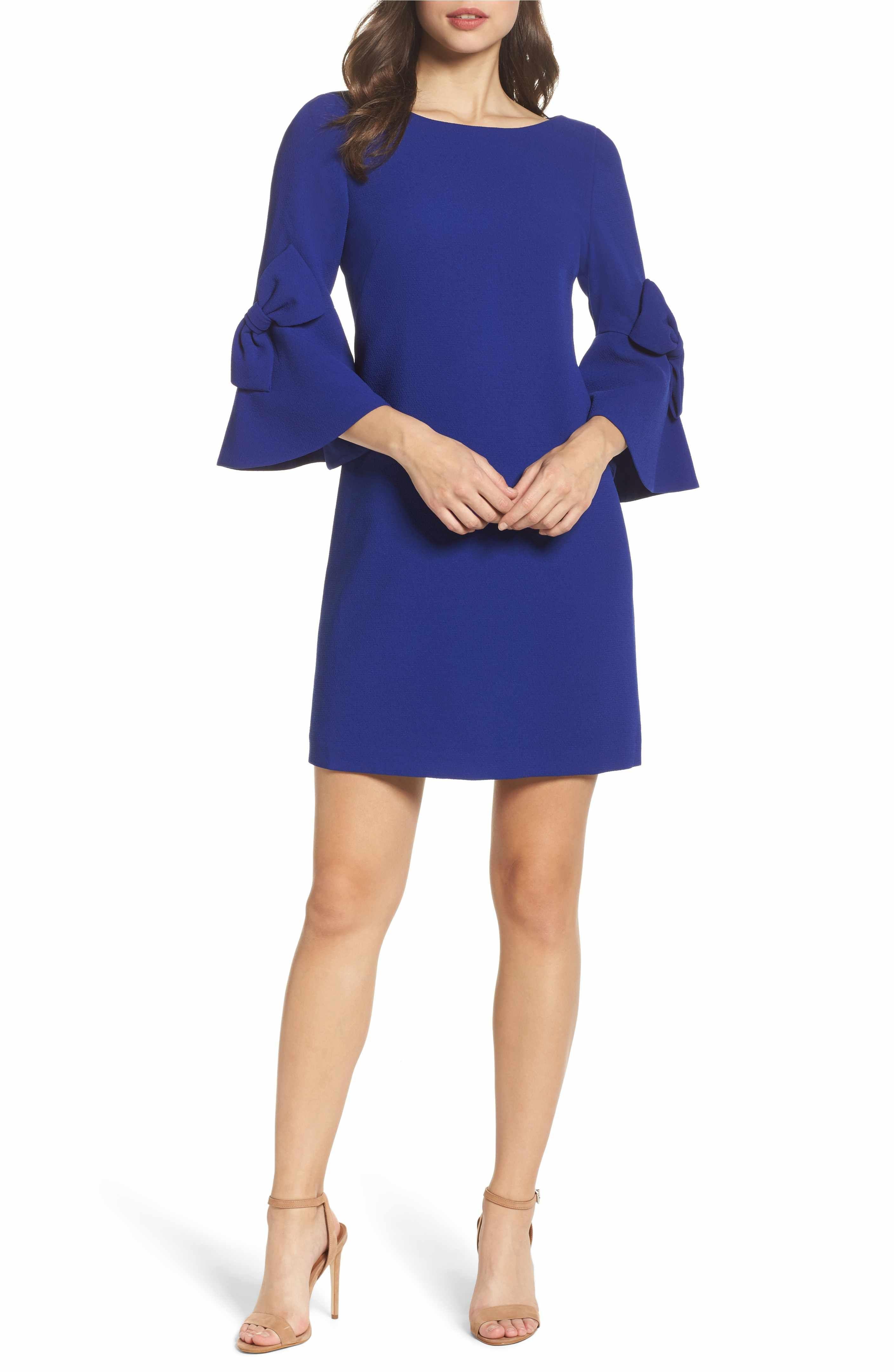 ae6125d1 Main Image - Eliza J Bell Sleeve Shift Dress (Regular & Petite ...