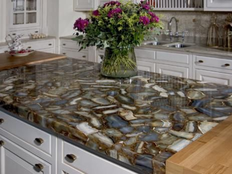 Semi Precious Countertop Is A Wonderful Piece To Have In Your Stunning Unique Kitchen Countertops 2018