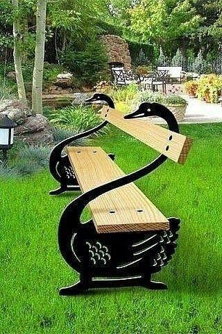 Bancas de cisnes negros Arte sa Pinterest Cisne negro, Cisnes - jardines con bancas