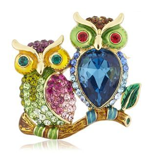 Butler and Wilson Small Owl Lapel Pin Brooch mBh4viM