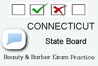 CONNECTICUT exam practice for state board in cosmetology