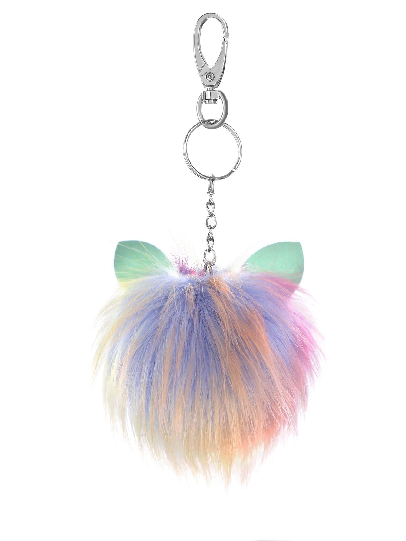37d9330d92 Shop Colorful Pom Pom Keychain online. SheIn offers Colorful Pom Pom  Keychain & more to fit your fashionable needs.