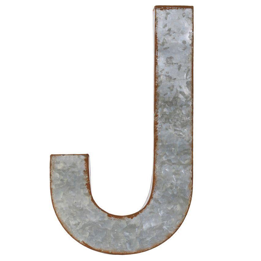 "Alphabet Letter ""J"" Wall Decor"