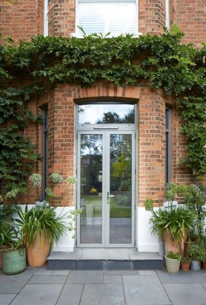French doors with fanlight in aluminium pinteres for Narrow french patio doors