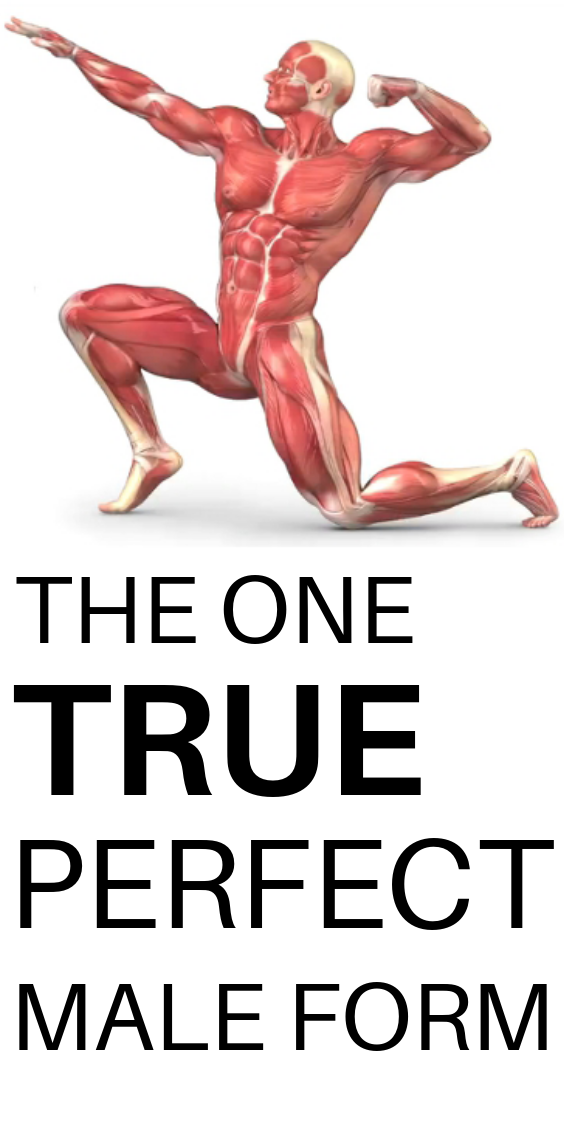 The one true perfect male form ( you wish you have )\ #fitness
