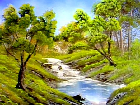 Bubbling Stream Bob Ross Bob Ross Paintings The Joy Of Painting Bob Ross