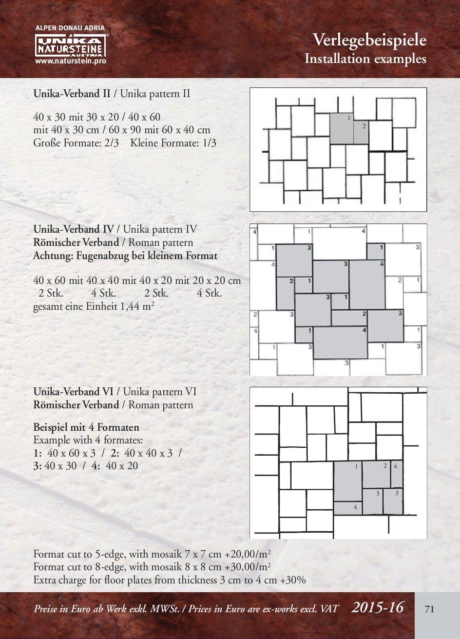 Unika Natursteinkatalog Terrassen Ideen Natursteine Steine