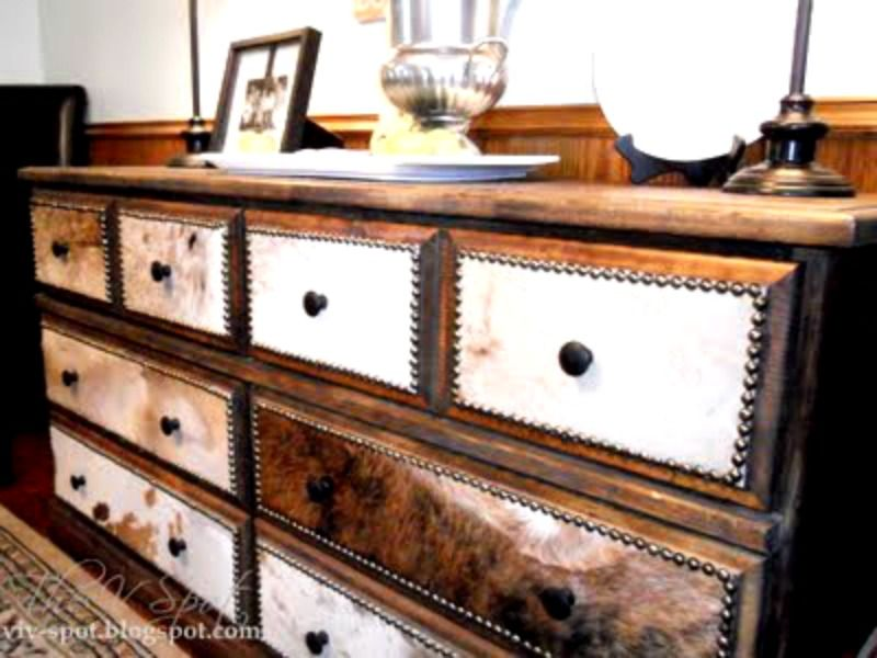 Making a goodwill find into a Cowhide Dresser! From the V-Spot