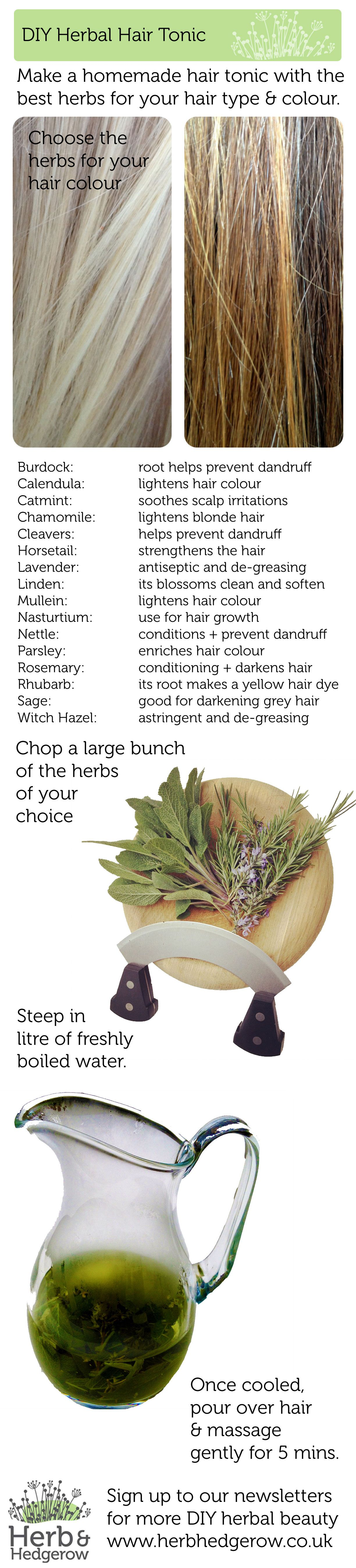 Herbal Hair Tonic Make Your Own Homemade Diy Beauty Recipes And
