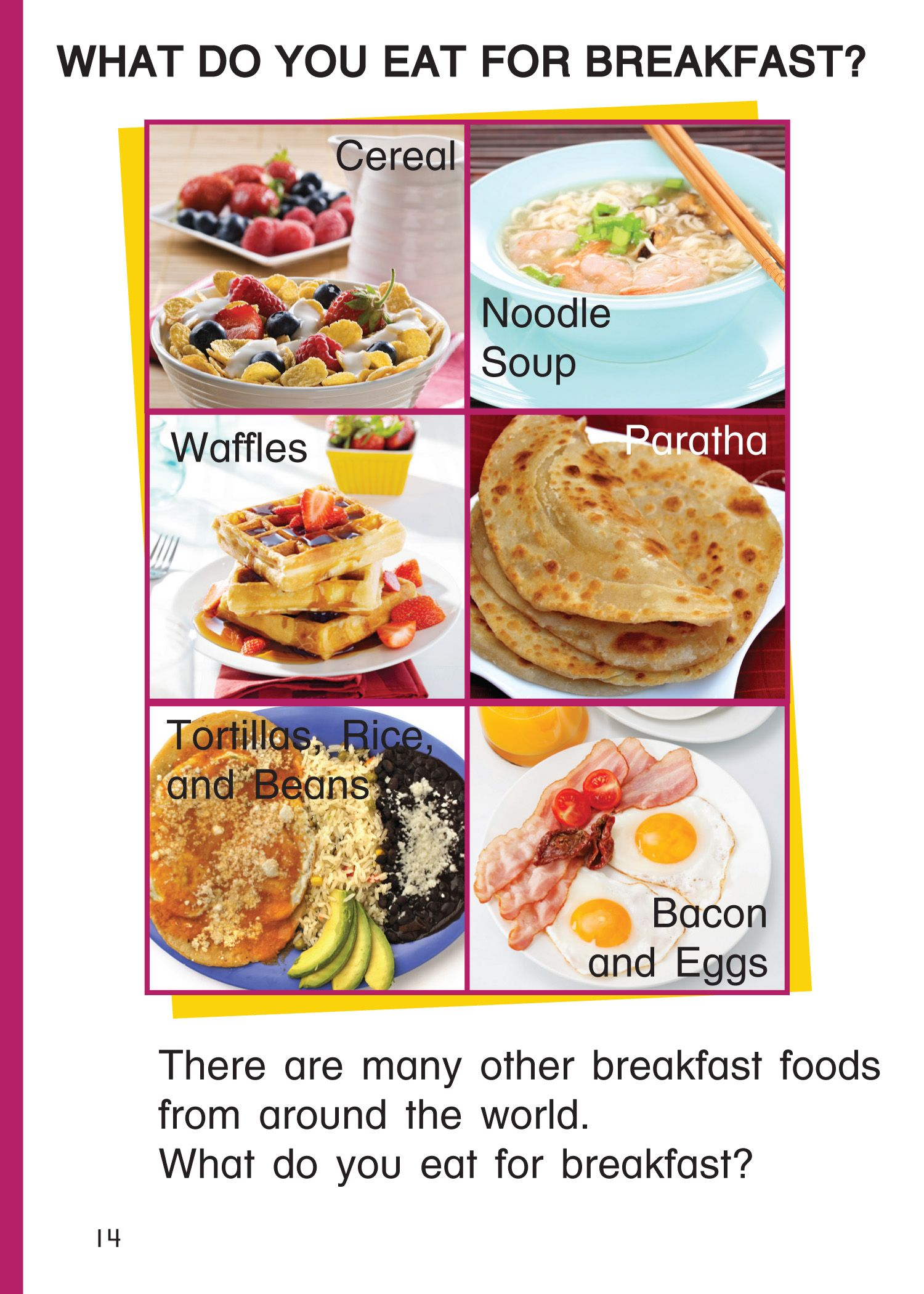 A page from breakfast around the world a book for children to learn about different types of - Different types of cuisines in the world ...