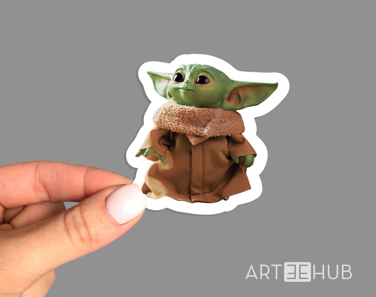 Baby Yoda Sticker Baby Yoda Decal Star Wars Sticker Yoda Etsy In 2021 Yoda Sticker Cool Laptop Stickers Star Wars Stickers