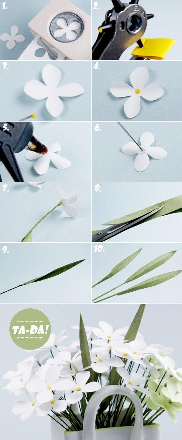 Como fazer dois tipos de flores de papel bonitas 2
