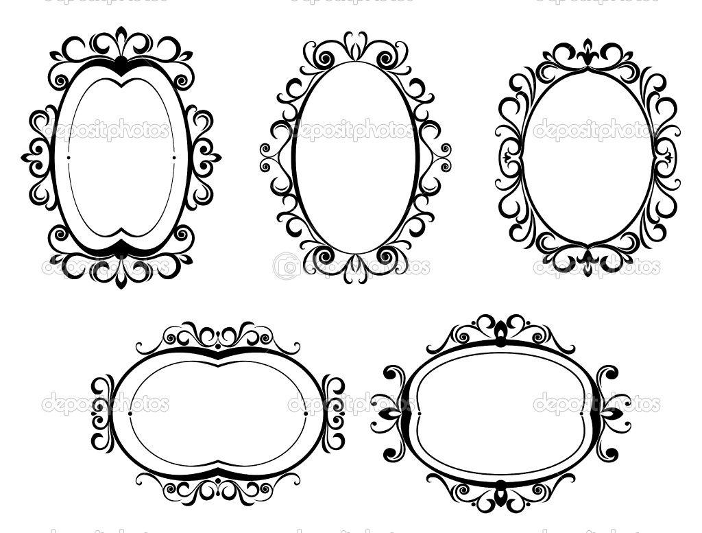 victorian frames   Tattoos   Pinterest
