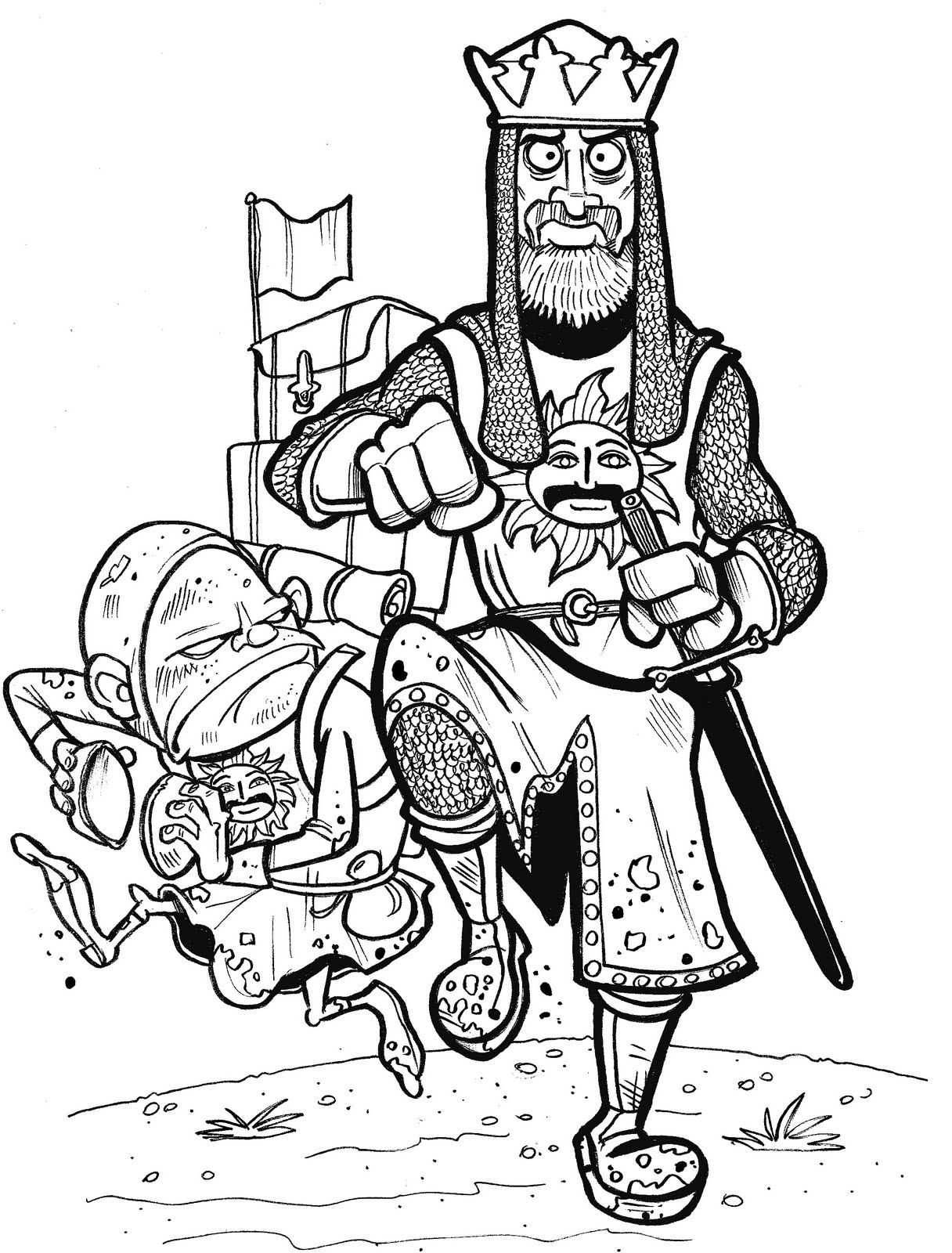 King Arthur Monty Python And The Holy Grail Monty Python T Shirt Diy Coloring Pages