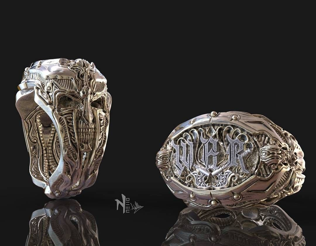 Jewelry design I made with zbrush War Ring by nello