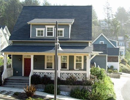 vacasa bayou lincoln vacation city oregon usa blue house beach rentals