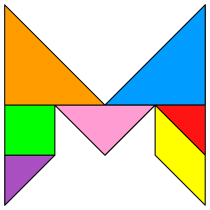 b834b76f Tangram Letter M - Tangram solution #123 - Providing teachers and pupils  with tangram puzzle activities