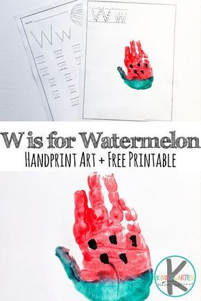 Letter W Hand Art Free W Worksheets For Preschool Prek
