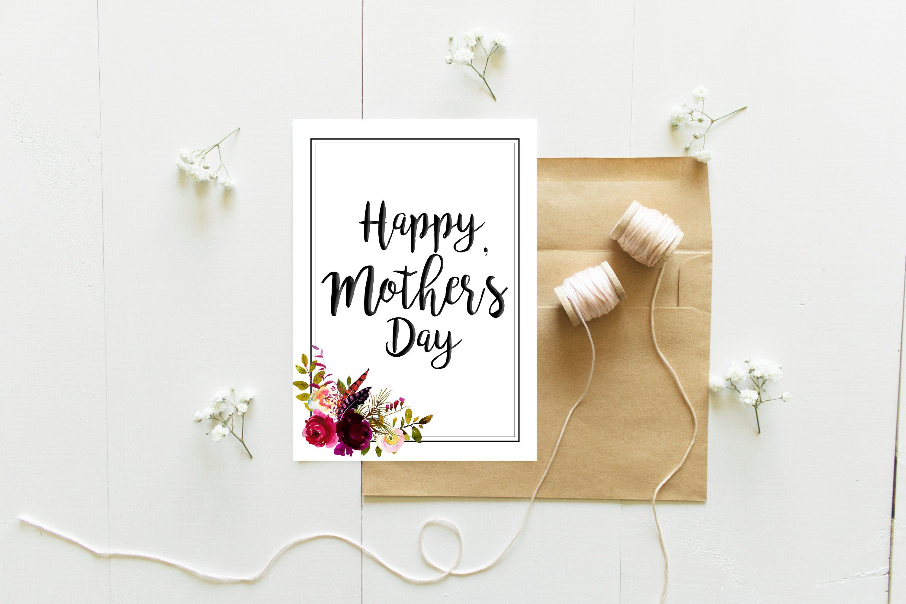 Mother S Day Greeting Card Printable Mother S Day Card Boho