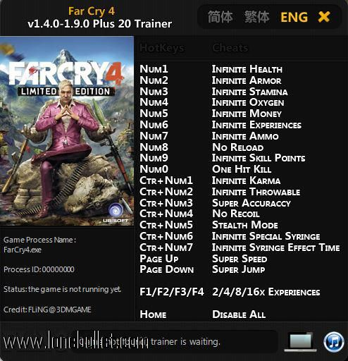 Pin by Ronik Chuhaha on Best Game Trainers | Far cry 4