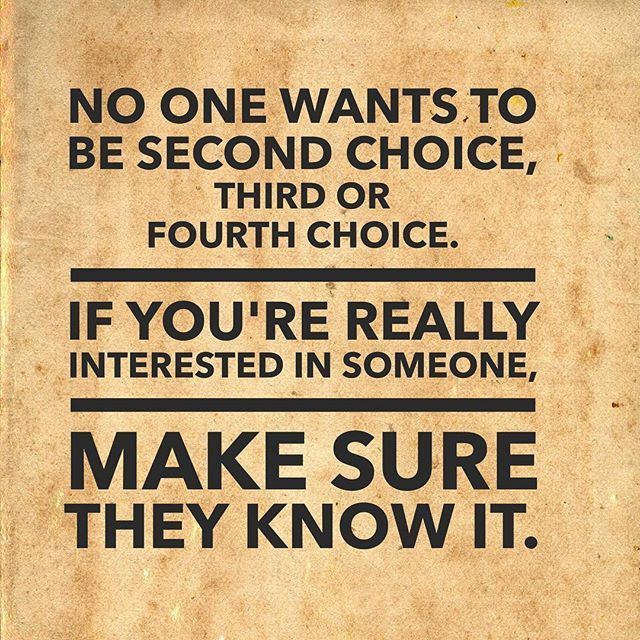 Dating second choice